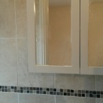 This was a new bathroom installed in an un-used storage room converted into extra bathroom in Ongar, Clonsilla, Co.Dublin. The room was dry-lined, tiled and the bathroom suite fitted.