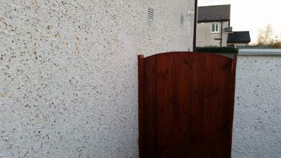 New outside wall built